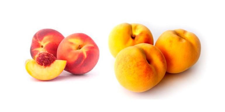 ¿Cuál es la diferencia entre el melocotón rojo y el amarillo?